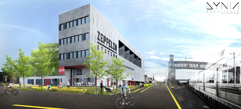Zeppelin Station Exterior - Image credited to Dyna Architects